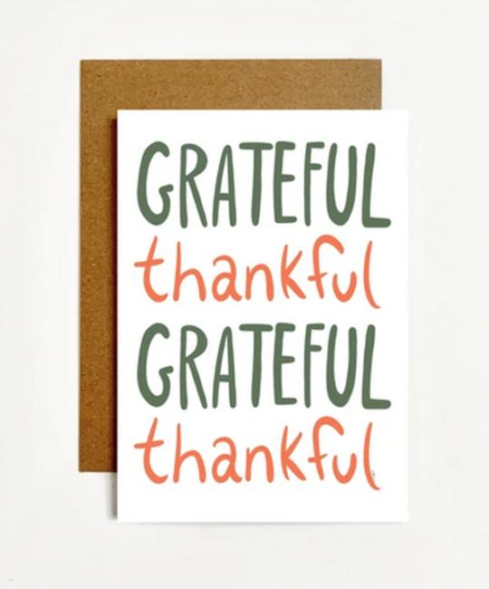 k. Patricia Designs Grateful Thankful Card