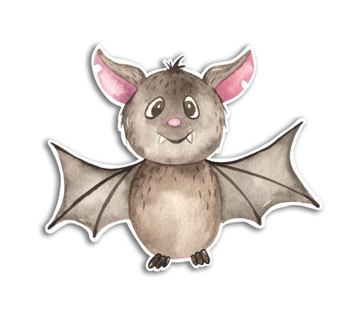 Gus and Ruby Letterpress - GR Gus and Ruby - Bat Halloween Die-Cut Sticker