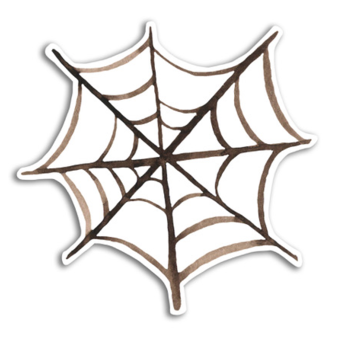 Gus and Ruby Letterpress - GR Gus and Ruby - Spider Web Die-Cut Sticker