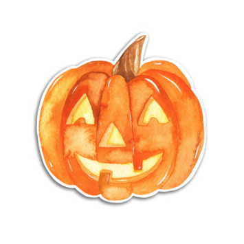 Gus and Ruby Letterpress - GR Gus and Ruby - Pumpkin Halloween Die-Cut Sticker