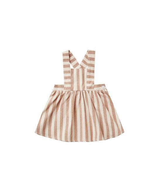 Rylee + Cru - RC RC BA - Retro Stripe Pinafore Dress in Rust