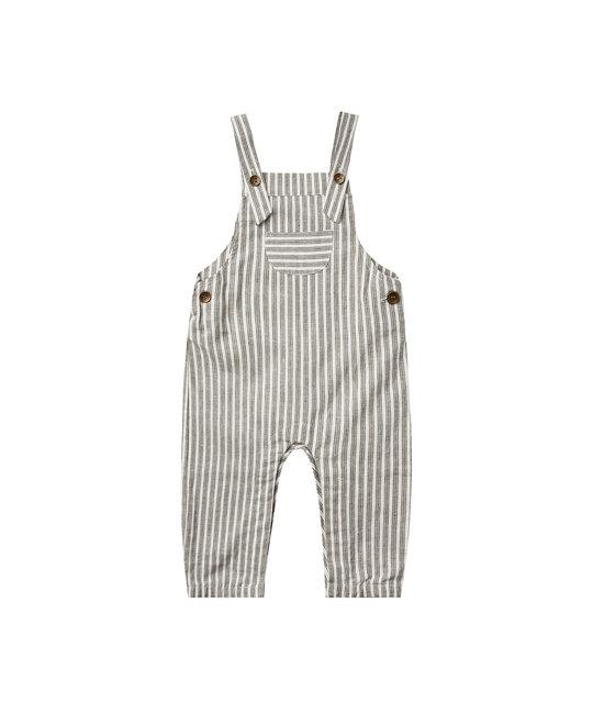 Rylee + Cru - RC RC BA - Railroad Stripe Baby Overalls in Vintage Black