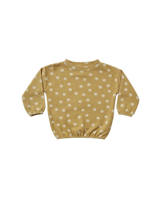 Rylee + Cru - RC RC BA - Sunburst Slouchy Pullover in Gold