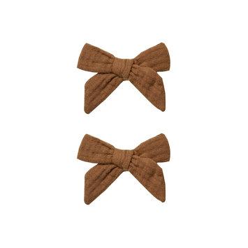 Rylee + Cru - RC RC BA - Bow Clip Set in Rust