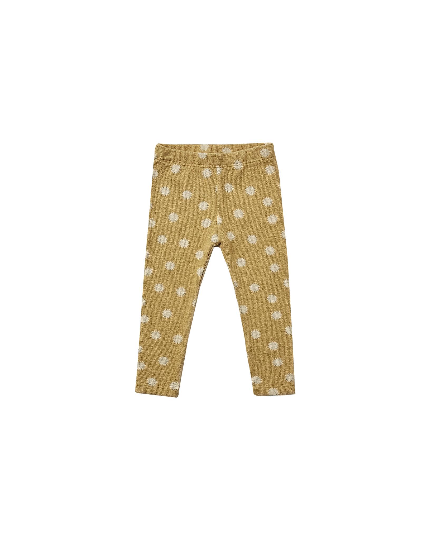 Rylee + Cru - RC RC BA - Sunburst Knit Leggings in Gold