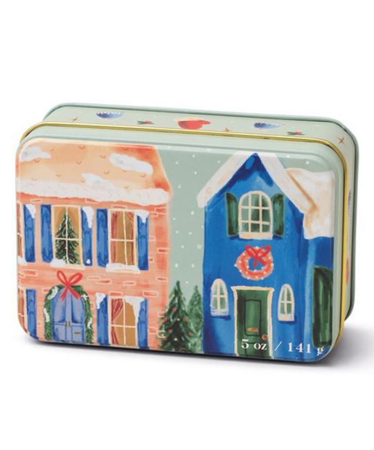 Paddywax - PA Christmas Tin Candle - Neighborhood Scene, Winter Balsam 5 oz.