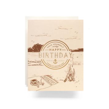 Antiquaria - AN Crest Birthday Card