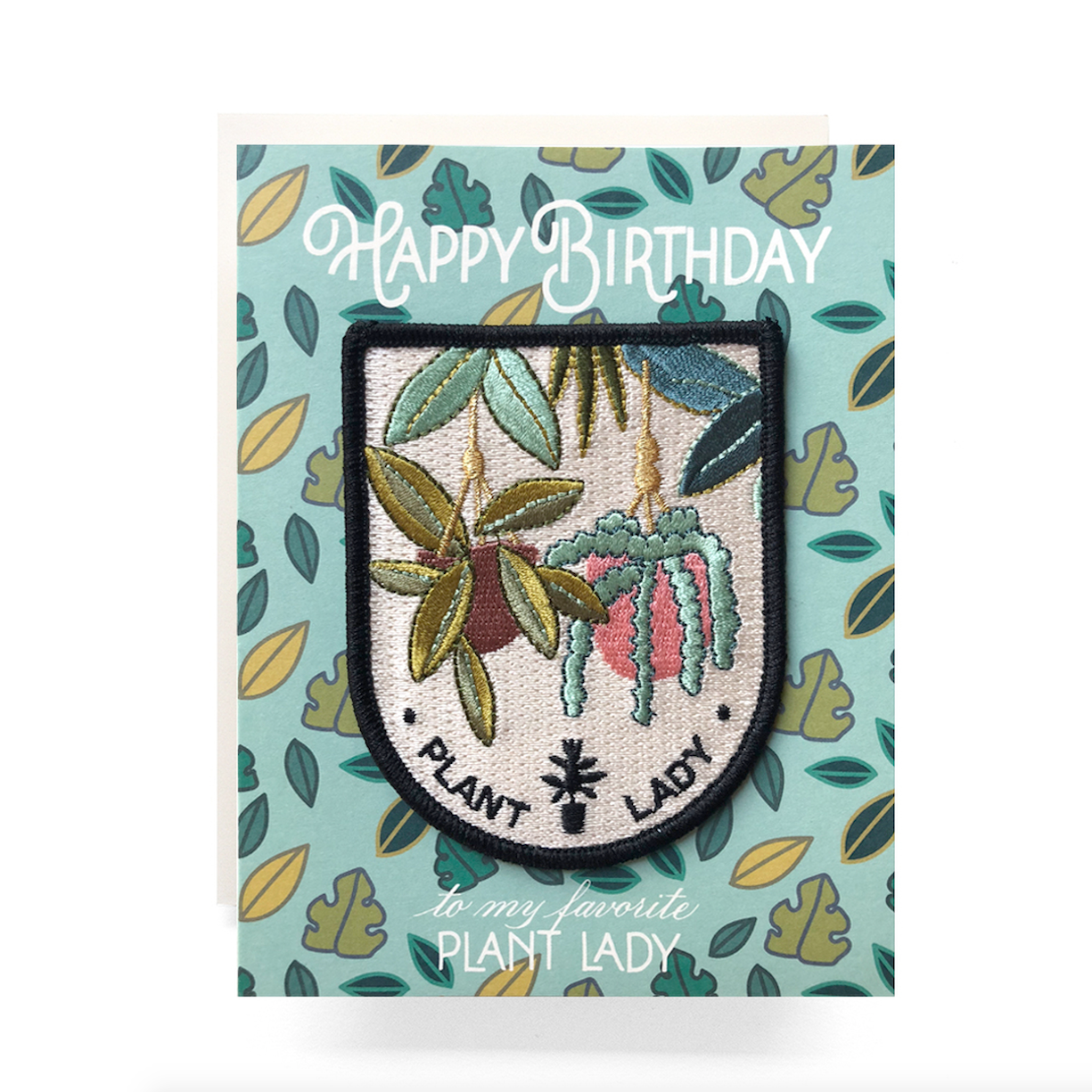 Antiquaria - AN Plant Lady Birthday Card + Patch
