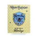 Antiquaria - AN Honeybee Birthday Card + Patch