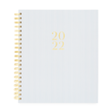 Sugar Paper - SUG 2022 Large Daily Spiral Planner,  Blue Pinstripe