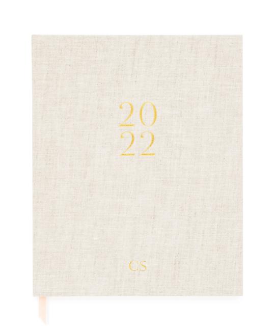 Sugar Paper - SUG 2022 Desk Planner, Flax