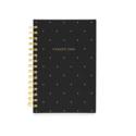 Sugar Paper - SUG 2022 Small Spiral Planner, Black Swiss Dot