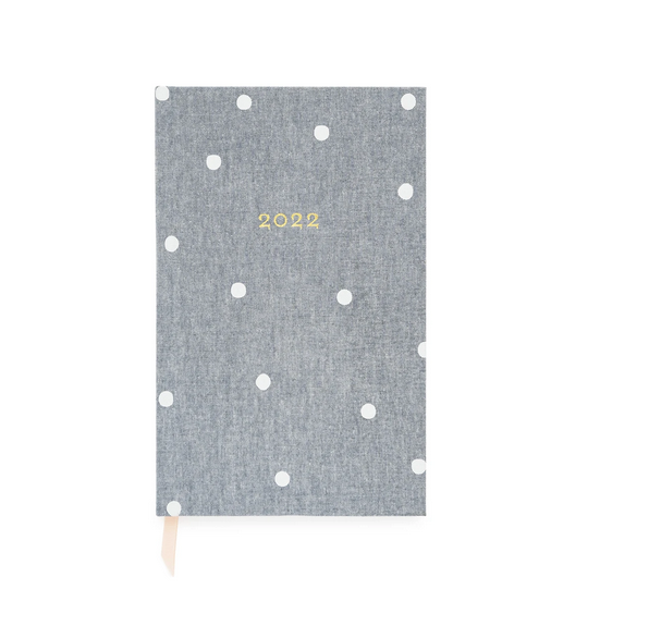 Sugar Paper - SUG 2022 Small Bound Planner, Chambray Scatter Dot