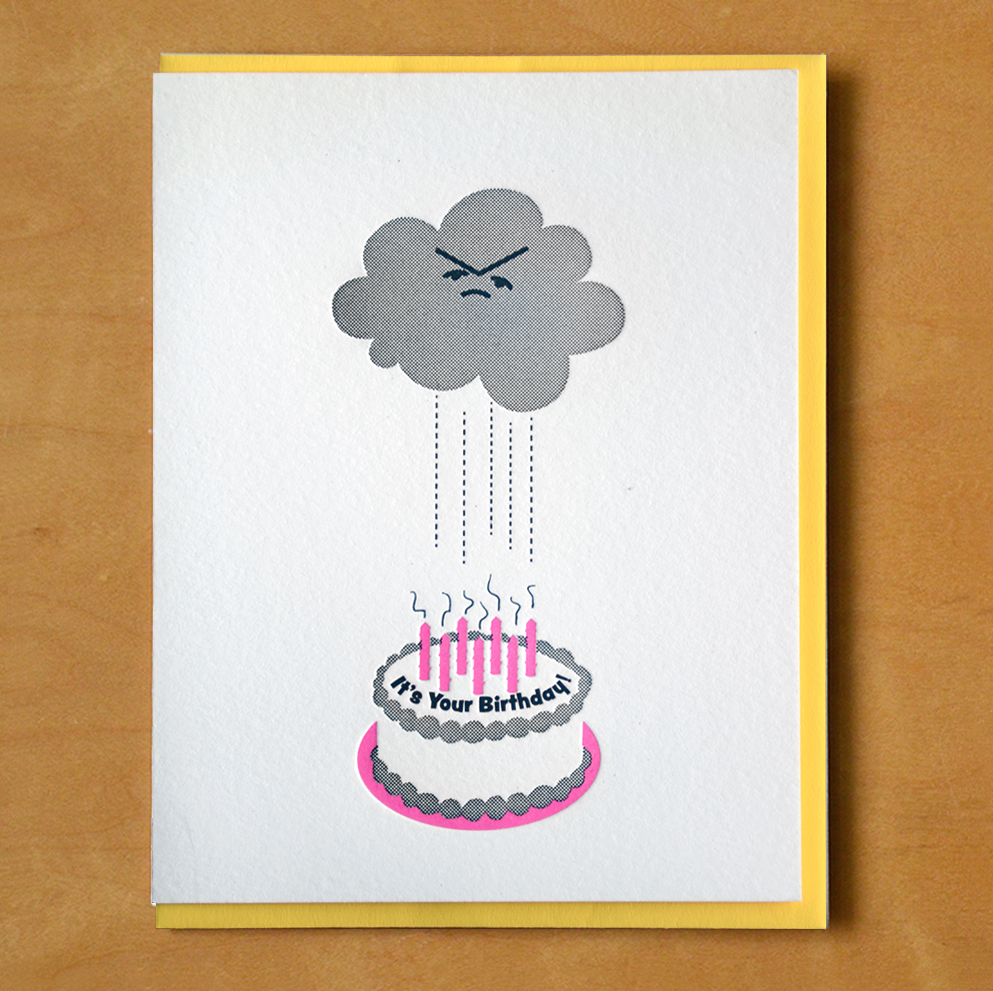 McBittersons - MCB Rain Cloud Birthday Card
