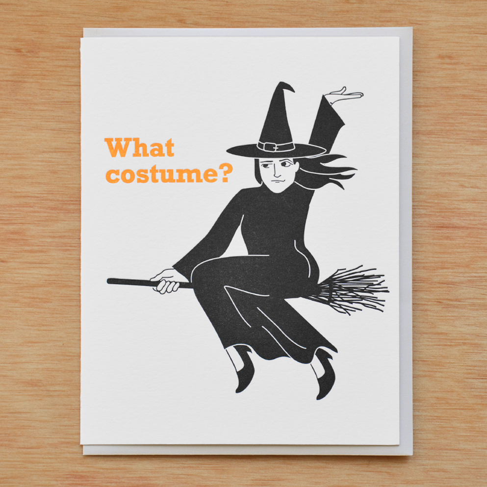 McBittersons - MCB Witch Costume Halloween Card