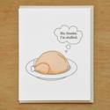McBittersons - MCB Stuffed Turkey Thanksgiving Card