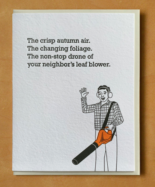 McBittersons - MCB Leaf Blower Season Fall Card