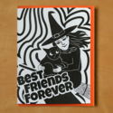 McBittersons - MCB BFF Cat and Witch Halloween Card