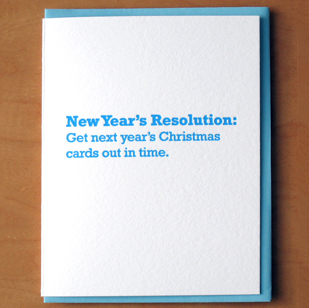 McBittersons - MCB New Year Resolution Card