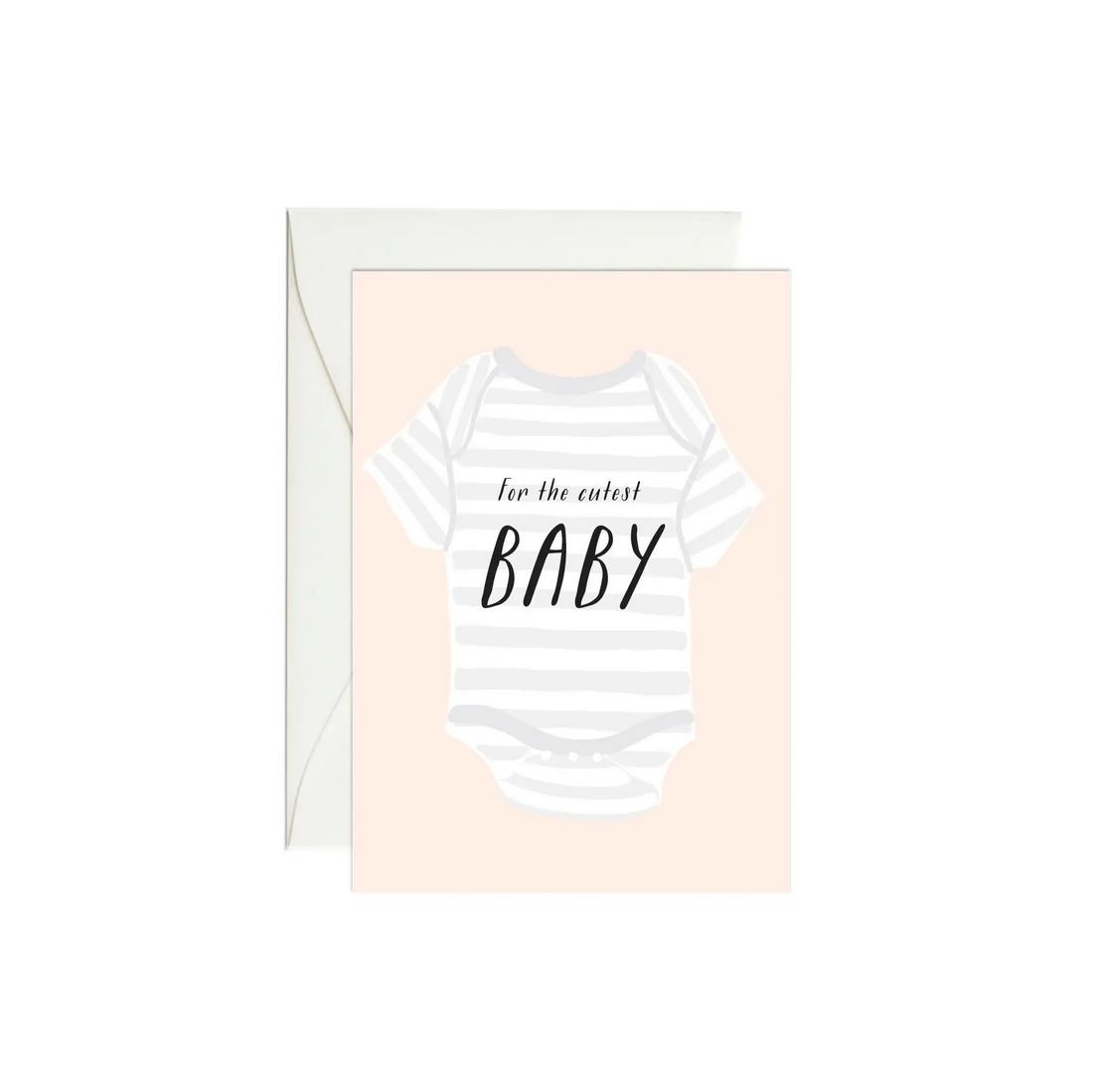 Paula & Waffle - PAW Onesie Cutest Baby Card