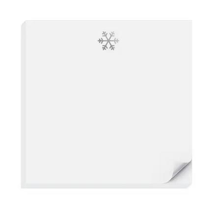 Inclosed Letterpress Co. - ICL Silver Snowflake Charmpad Notepad