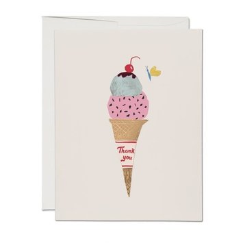 Red Cap Cards - RCC Ice Cream Cone Thank You Card