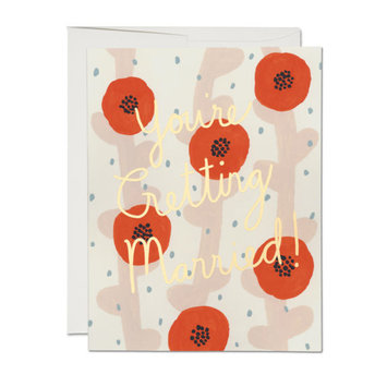 Red Cap Cards - RCC Wedding Poppies You're Getting Married Card