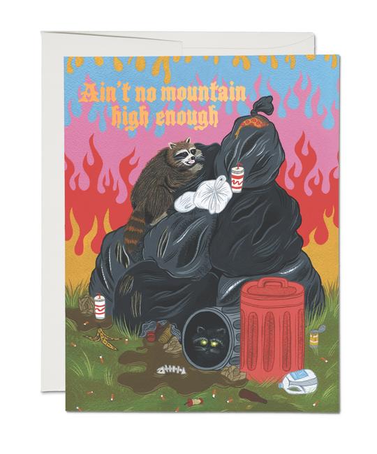 Red Cap Cards - RCC Raccoon Fun Trash Heap Card