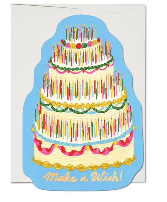 Red Cap Cards - RCC Make A Wish Birthday Cake Card