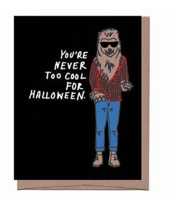 La Familia Green - LFG Hipster Werewolf Halloween Card
