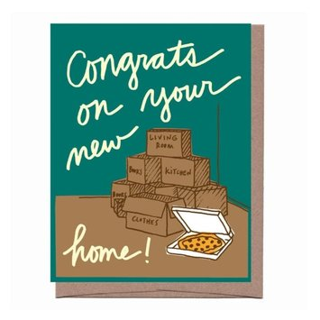La Familia Green - LFG Congrats On Your New Home! Pizza and Boxes Card