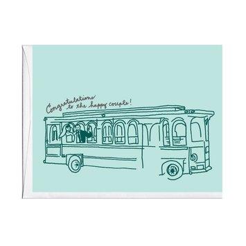 La Familia Green - LFG Trolley Wedding Card