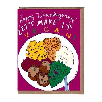 La Familia Green - LFG Vegan Thanksgiving Card