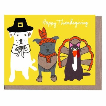 La Familia Green - LFG Pilgrim Pets Thanksgiving Card