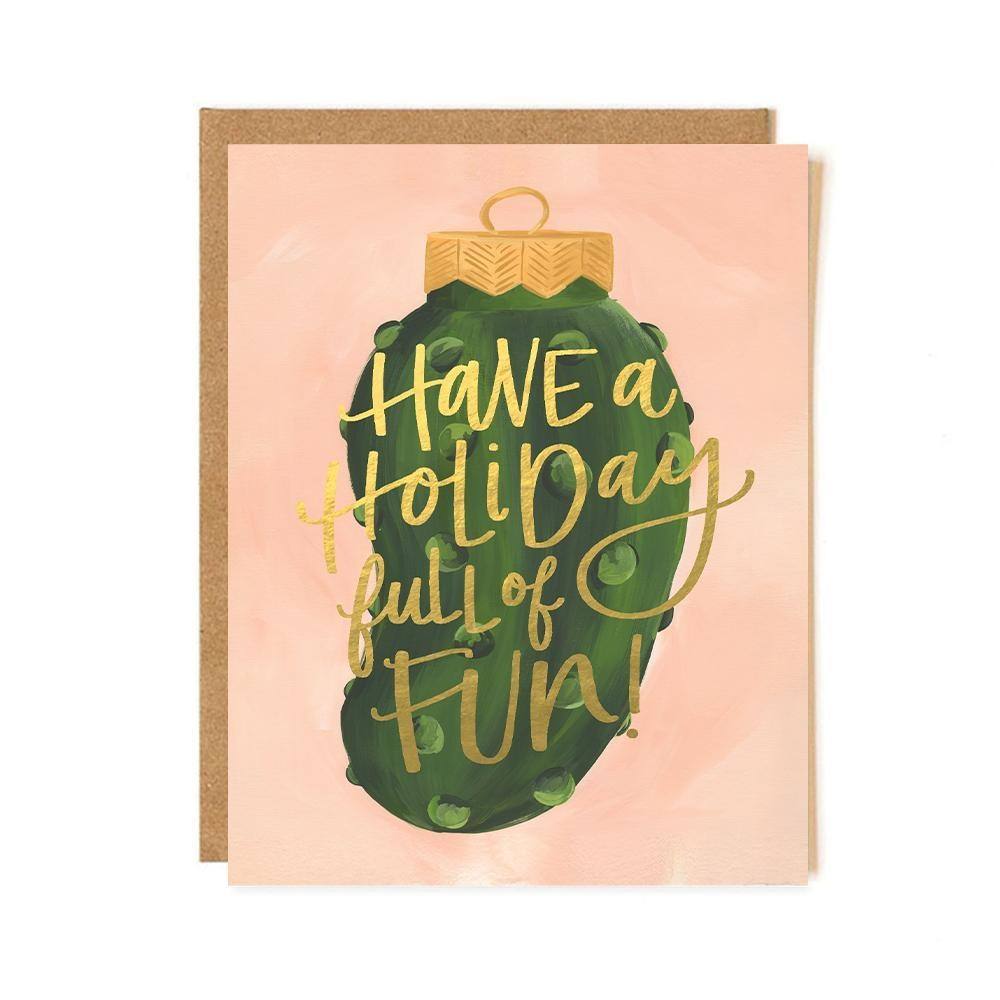 One Canoe Two Letterpress - OC Holiday Pickle Card