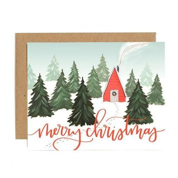 One Canoe Two Letterpress - OC Christmas Cabin Holiday Card