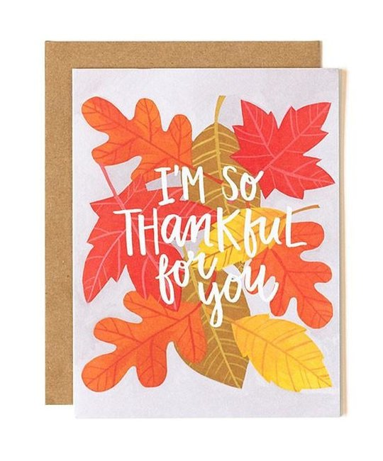 One Canoe Two Letterpress - OC I'm So Thankful for You Card