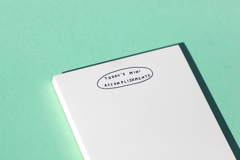 M. C. Pressure Today's Mini Accomplishments Riso Notepad