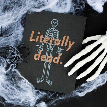 M. C. Pressure Literally Dead Halloween Card