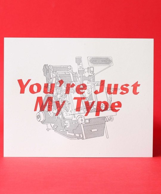 M. C. Pressure Just My Type Print