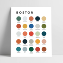 Lunch City Studio Boston Color Palette Art Print
