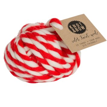knot and bow Knot & Bow Red Color Twist Wool