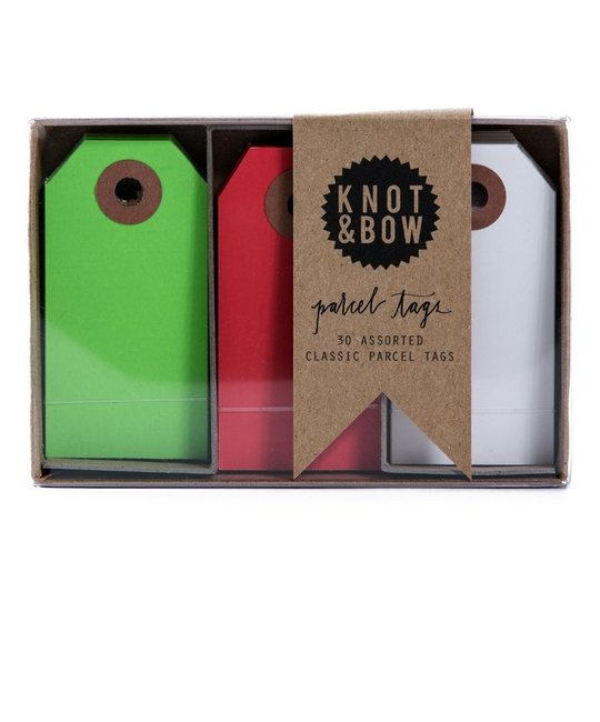 knot and bow Knot & Bow Parcel Tag Trios, Holiday