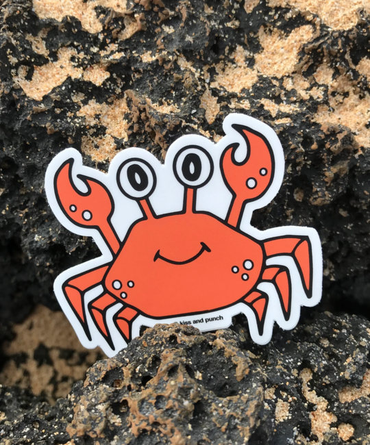 Kiss and Punch - KP Cute Crab Sticker