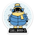 Kiss and Punch - KP Chill Bro Penguin Sticker
