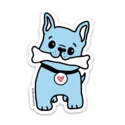 Kiss and Punch - KP Frenchie Dog Sticker