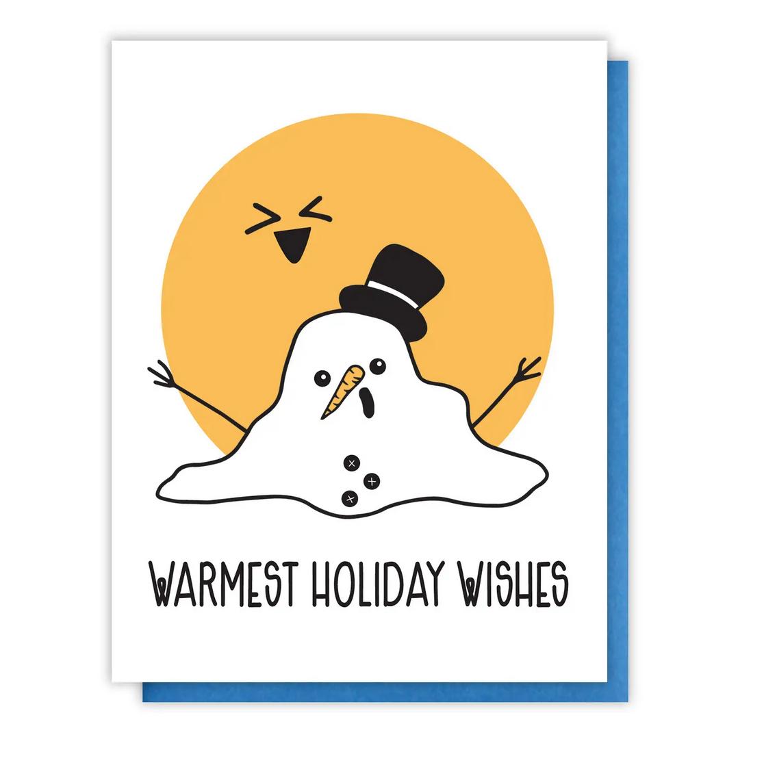 Kiss and Punch - KP Melting Snowman Holiday Card