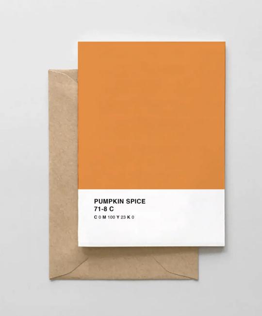 Spaghetti & Meatballs - SAM Pumpkin Spice Pantone Card