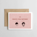 Spaghetti & Meatballs - SAM Who'd You Rather Home Alone Holiday Card
