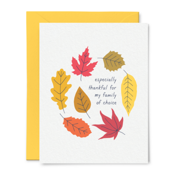 Tiny Hooray - TIH (formerly Little Goat, LG) Family of Choice Thanksgiving Card